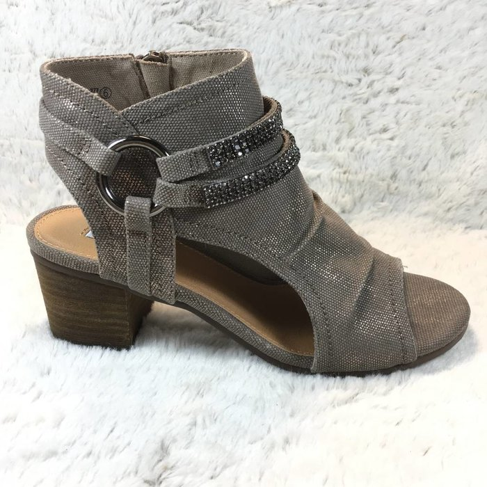 Alma Taupe Open Toe Booties