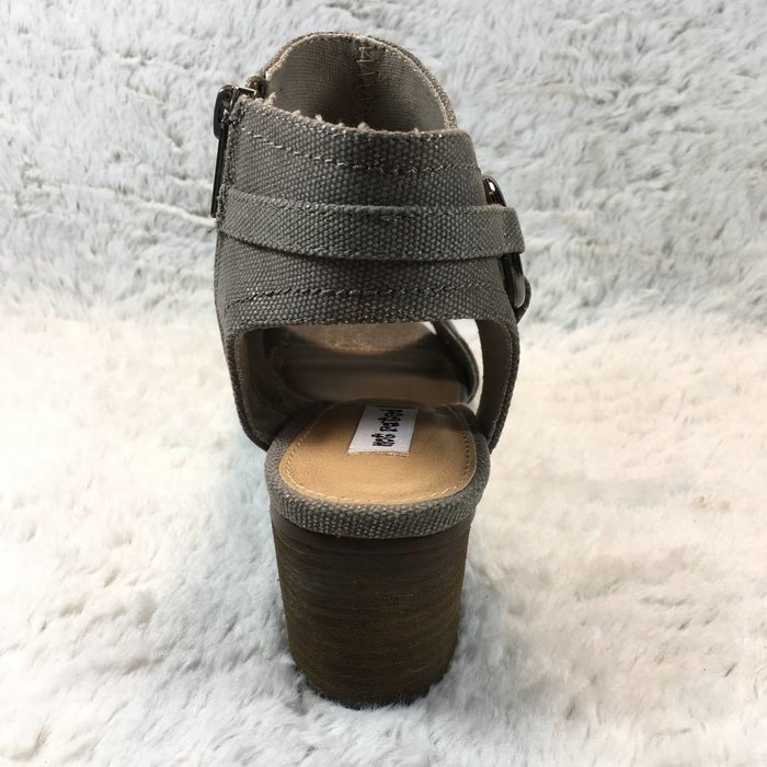 Alma Taupe Open Toe Booties
