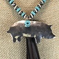 Silver Pig Tassel Turquoise Beaded Necklace