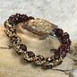 Crystal Leopard Maroon Stretch Bracelet