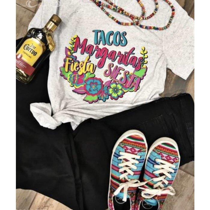 Tacos Margaritas Fiestas & Siestas T-Shirt