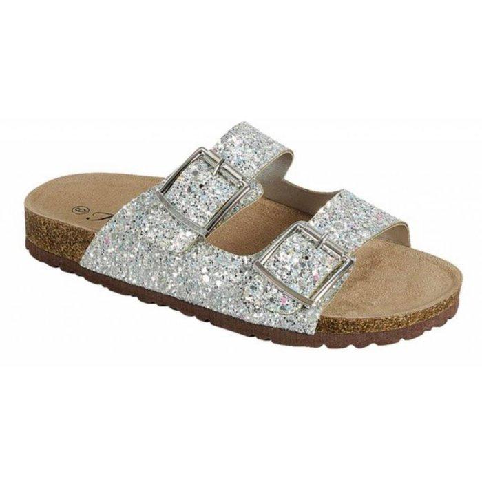 Glitter Birken Sandal Shoes - SILVER