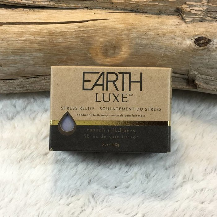 Stress Relief Tussah Silk Fibers Silk & Shea Butter Soap by Earth Luxe
