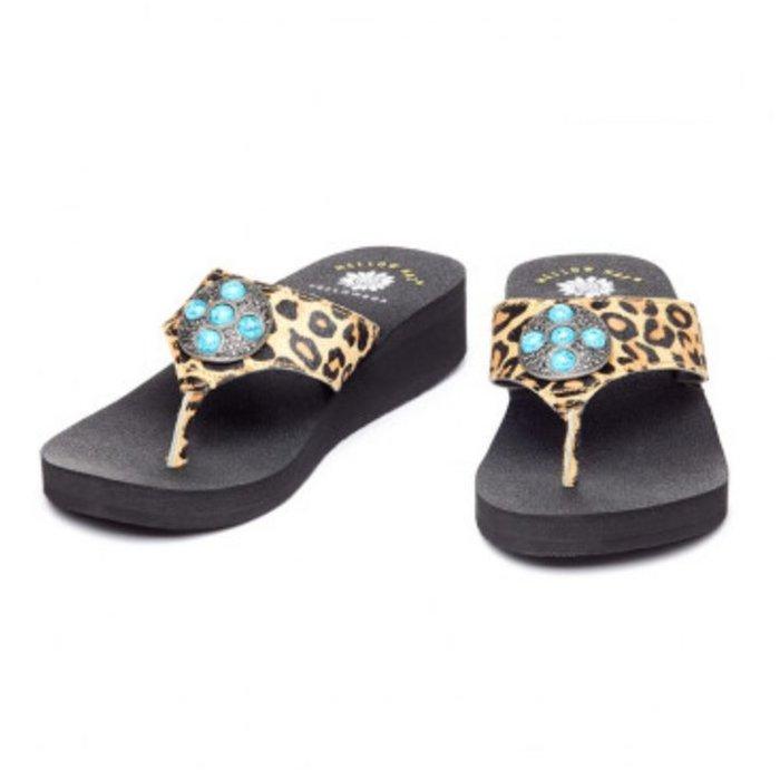 Turquoise Leopard Tennis Shoes
