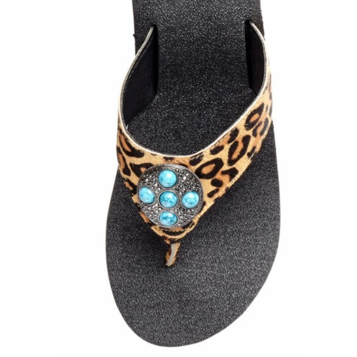 Hailena Leopard Sandal