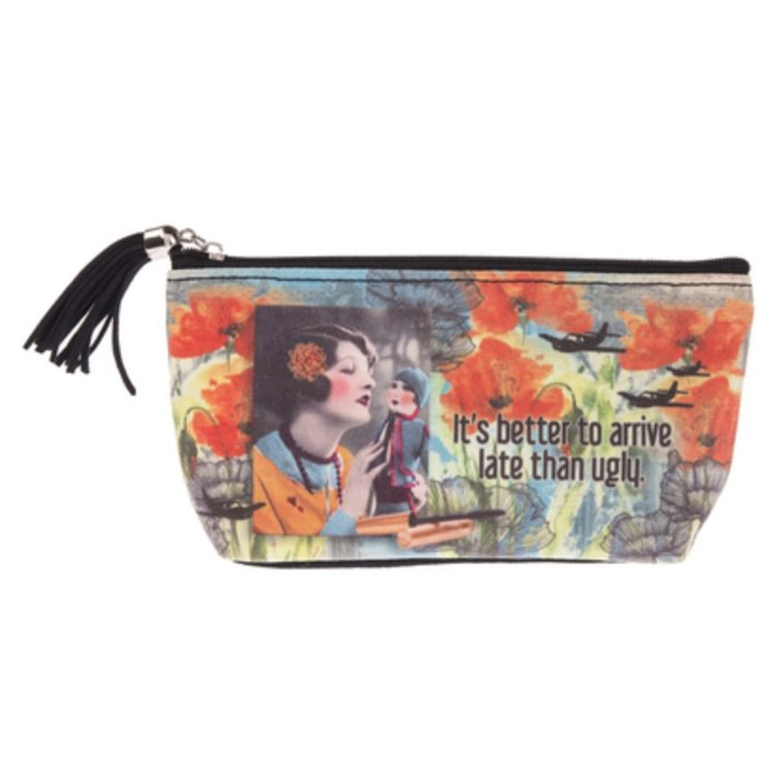 It's Better To Arrive Late Small Cosmetic Bag