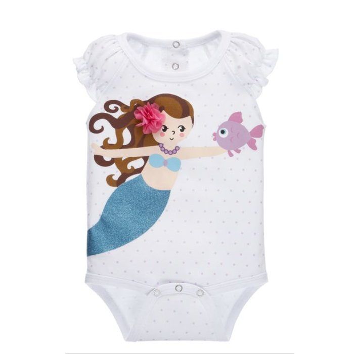 Mermaid Diaper Shirt 0-6 months