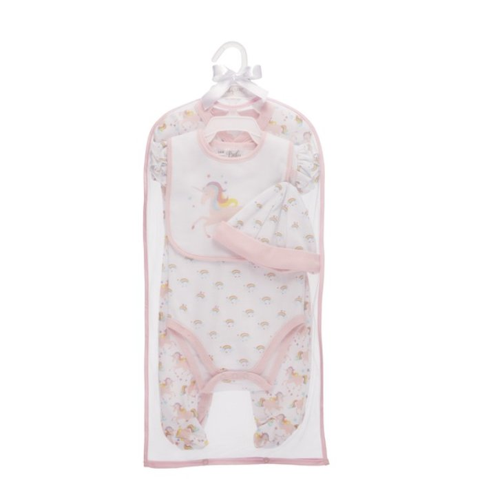 Sweet Iris Unicorn Layette 4 Pc. Set