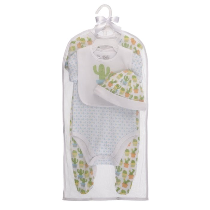 Cactus Layette 4 Pc. Set  3-6 months