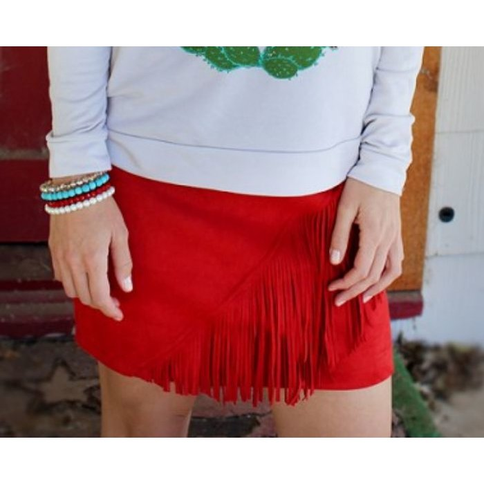 Red High Country Showstopper Skirt