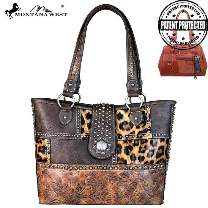 Leopard Concho Collection Concealed Carry Tote