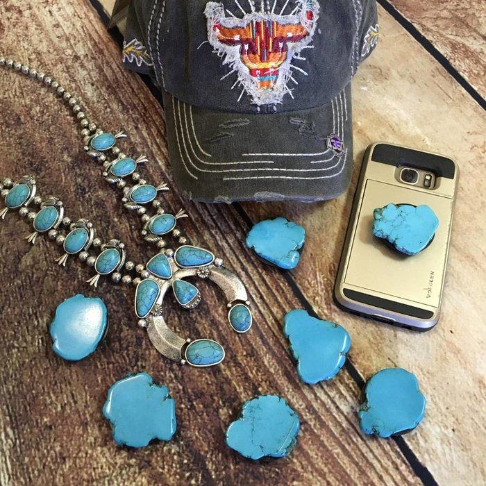 Turquoise Slab Phone Grips