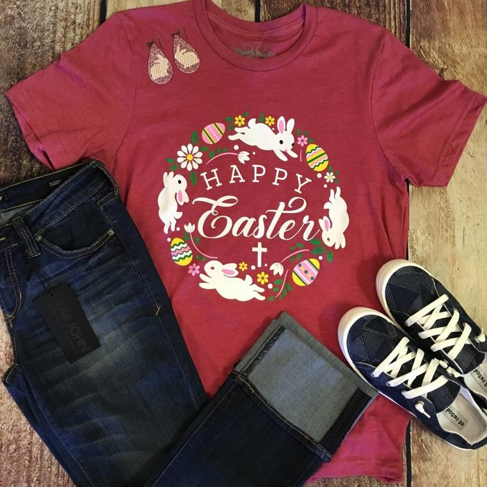 Happy Easter Wreath T-Shirt
