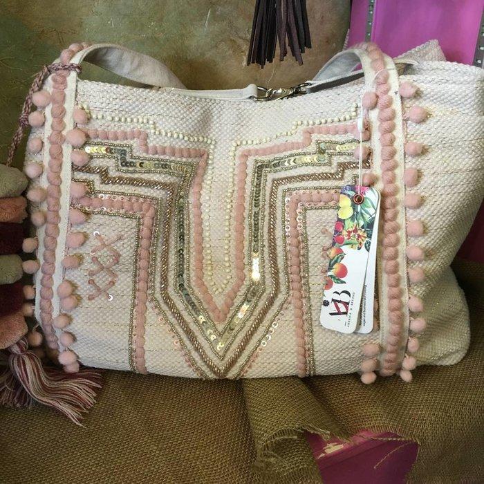 Peach Parfait Embellished Shoulder Bag