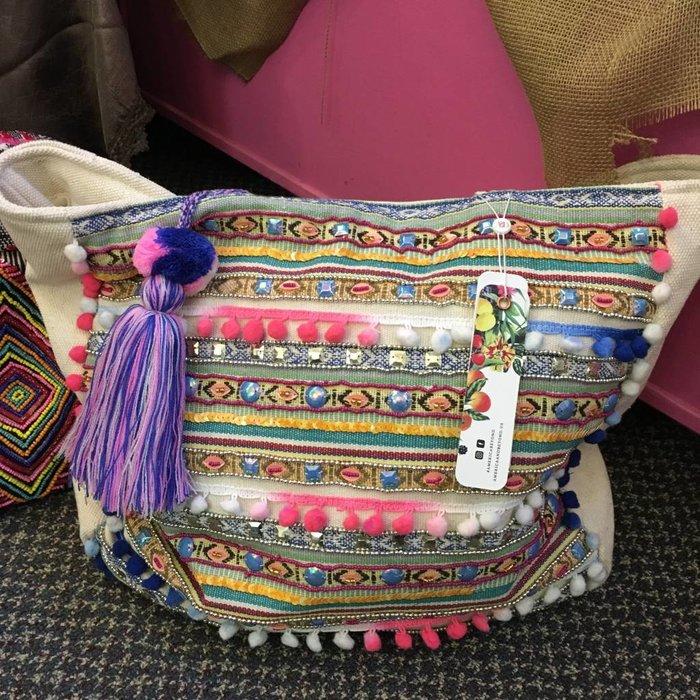 June Sunshine Pompom Shoulder Bag - ABS-264