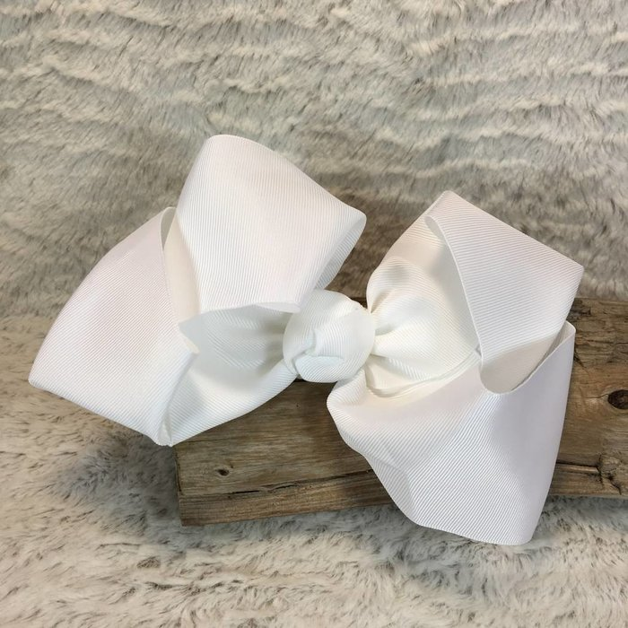 WHITE CHEER BOW