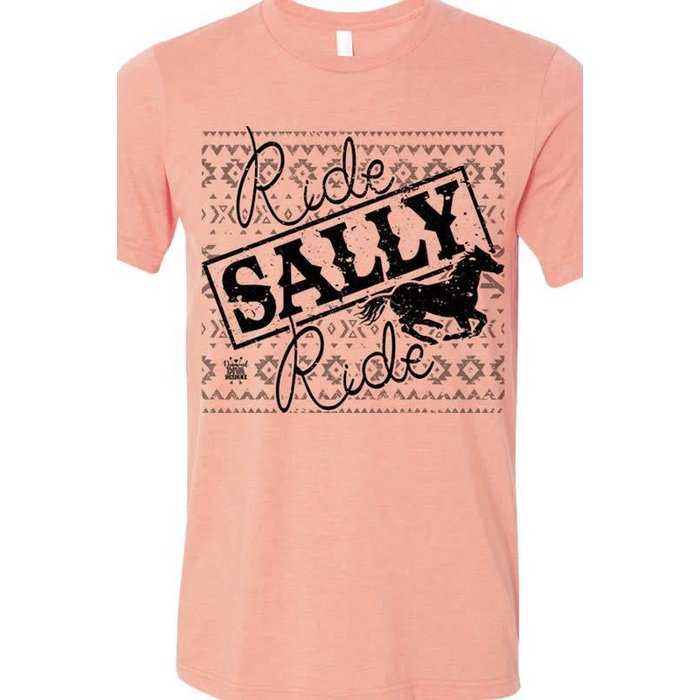Ride Sally Ride Crew Neck Tee