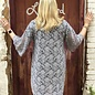 Grey Lace Short Kimono with Sequins