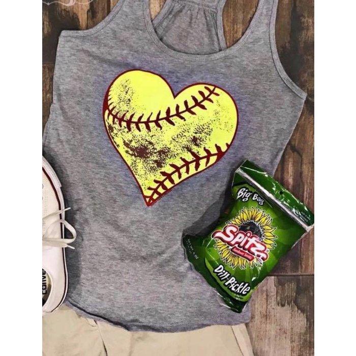 Dirty Heart Softball Tank