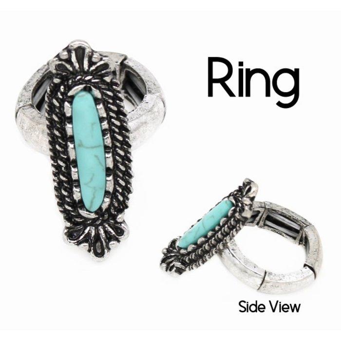 Turquoise Long Ring