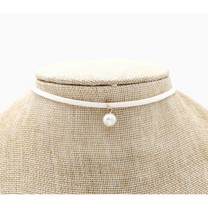Ivory Choker with Pearl