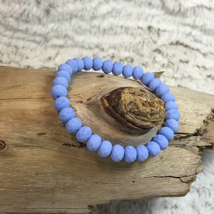 Country Blue Crystal Stretch Bracelet