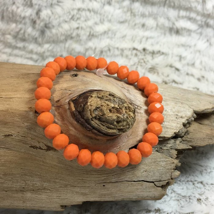 Orange Crystal Stretch Bracelet