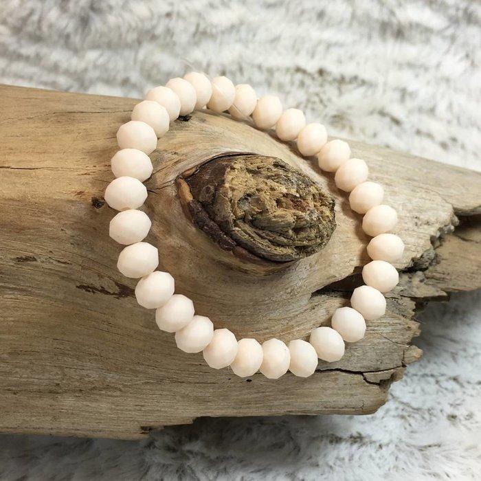 Ivory Crystal Stretch Bracelet