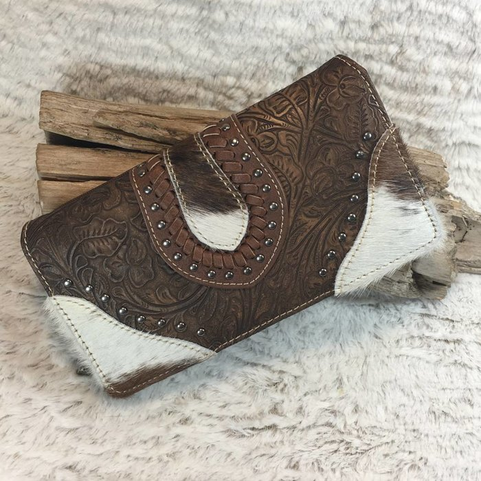 Cowhide Light Brown Leather Wallet