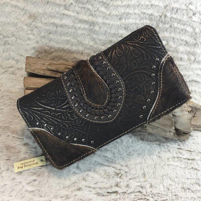 Cowhide Dark Brown Leather Wallet