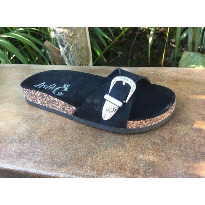 Black Giddy Up Sandal