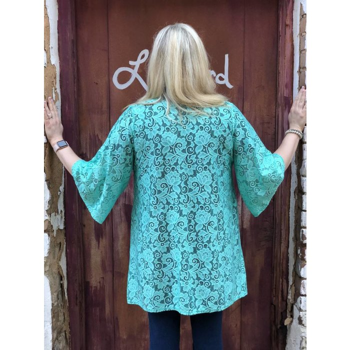 Mint PLUS Lace Mint Cardigan
