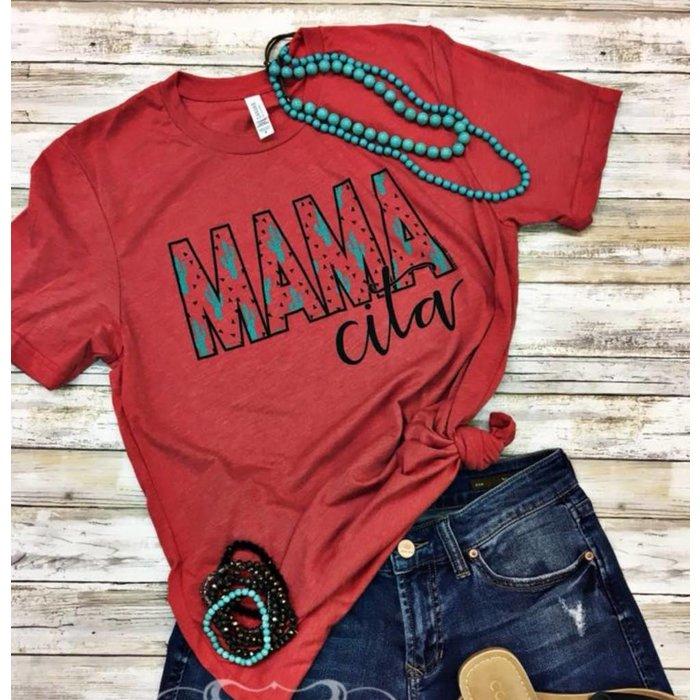 Red Mamacita Cactus T-Shirt