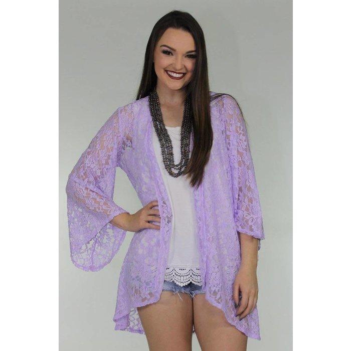 Lilac Lace Cardigan
