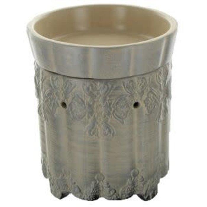 Ornate Brushed Platinum Warmer