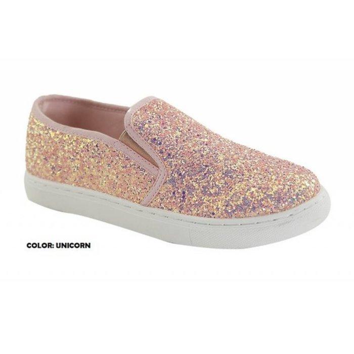 Unicorn Glitter Slip On Sneaker
