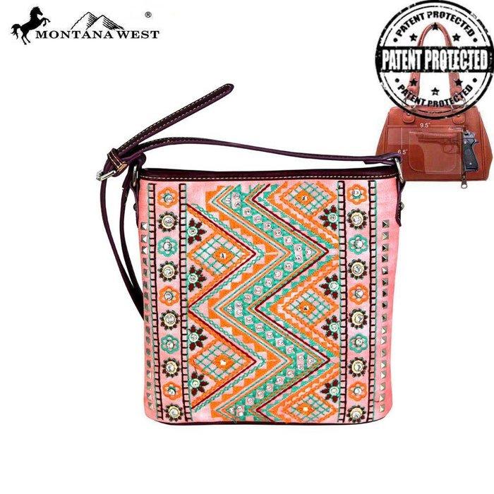 Pink Aztec Concealed Handgun Crossbody