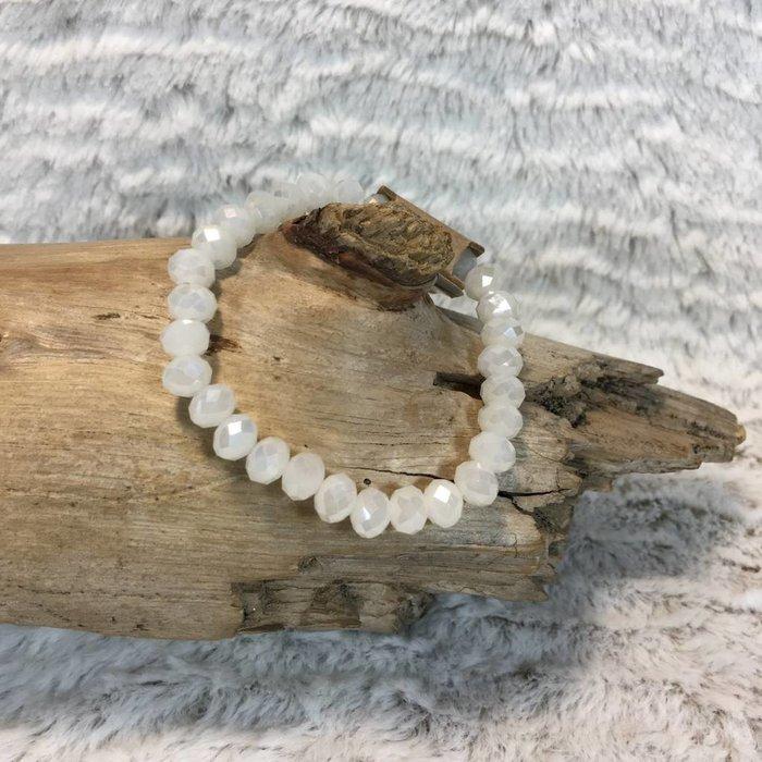 White Crystal Stretch Bracelet
