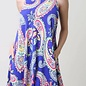 Royal Blue Multi Paisley Skater Dress