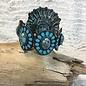 Turquoise Stone Oval Style Stretch Bracelet