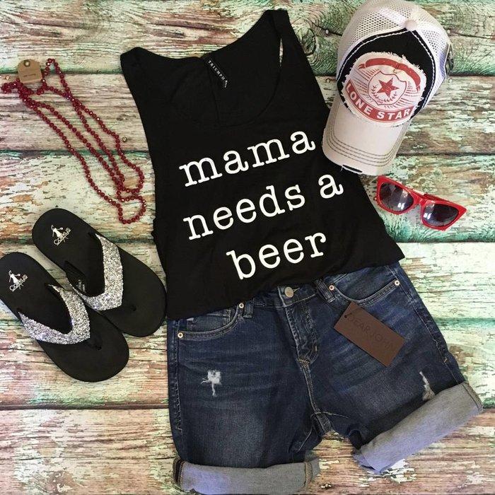 Black - Mama Needs A Beer Tank
