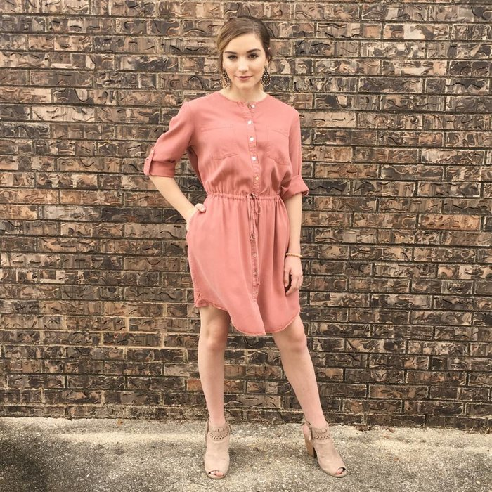 Luka 3/4 Sleeve Shirt Dress