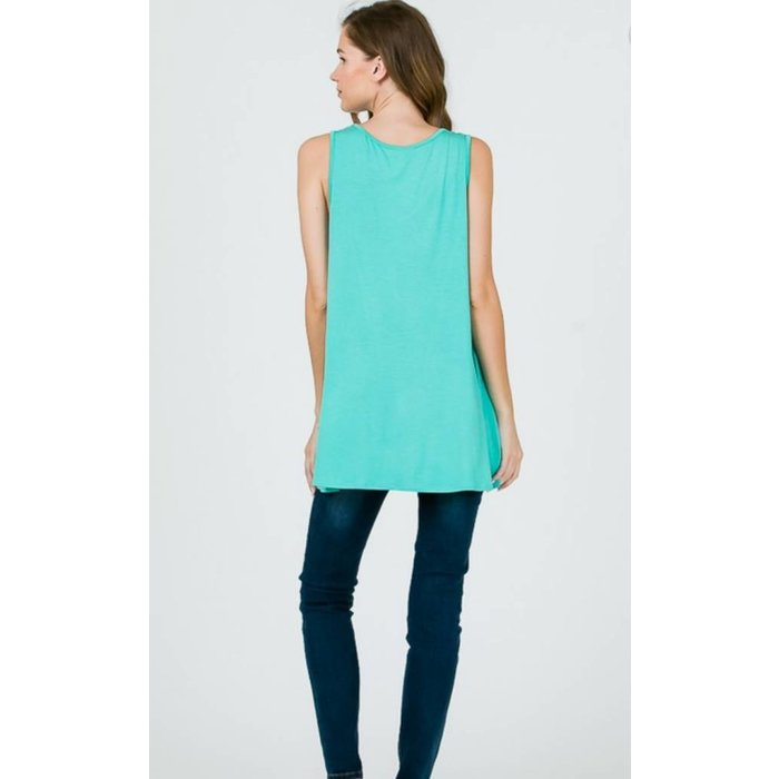 Jade Criss Cross Tank Top