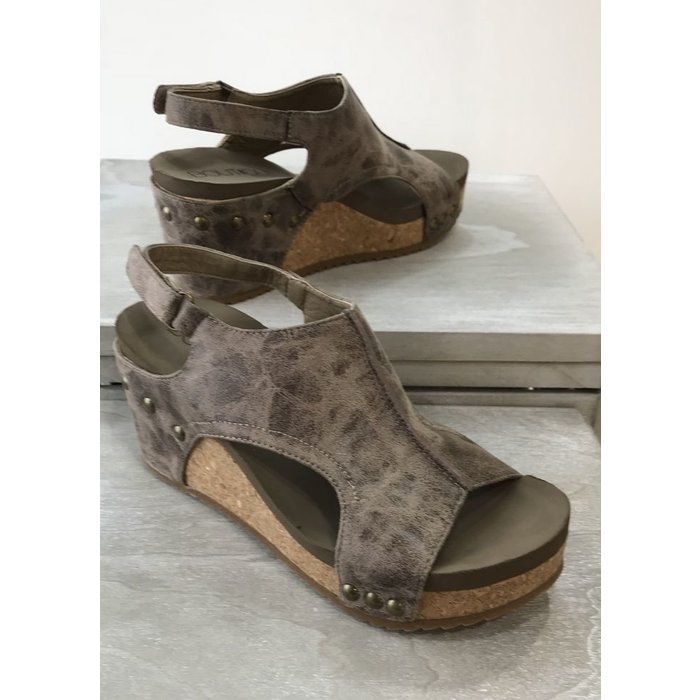 London Brown Distressed Wedge