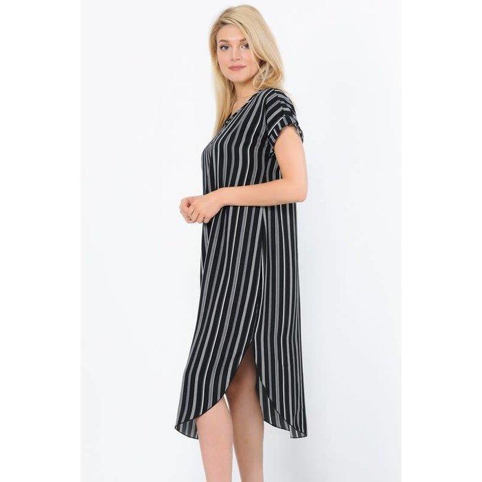 Black & White Stripe Dress