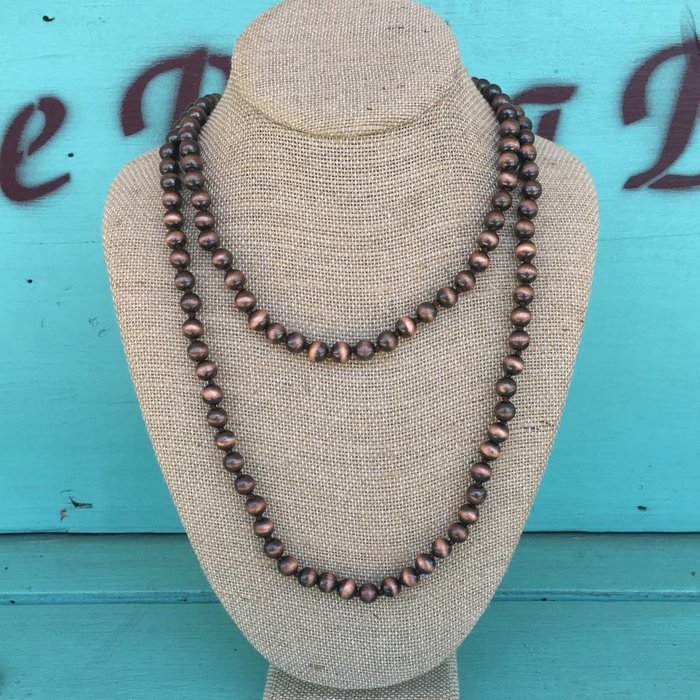 "Bronze Navajo Pearl 60"" Necklace"