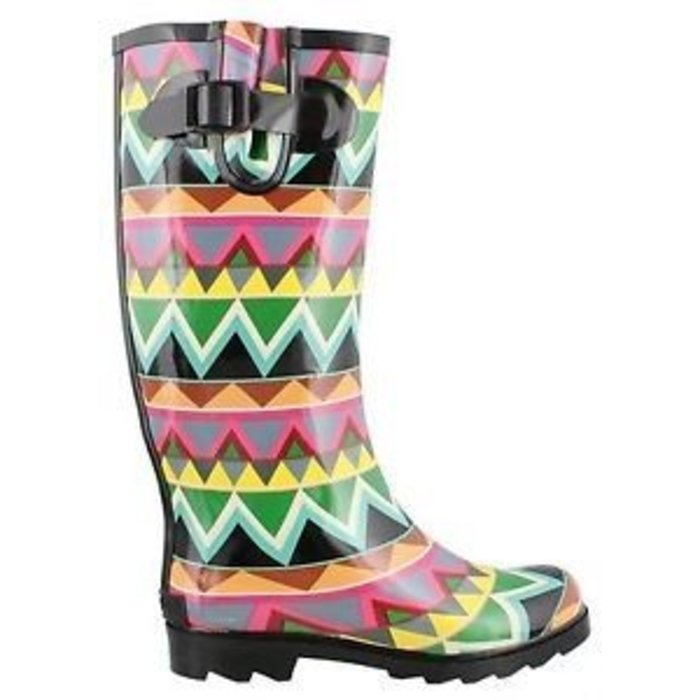 Sunshine Chevron Print Rainboots