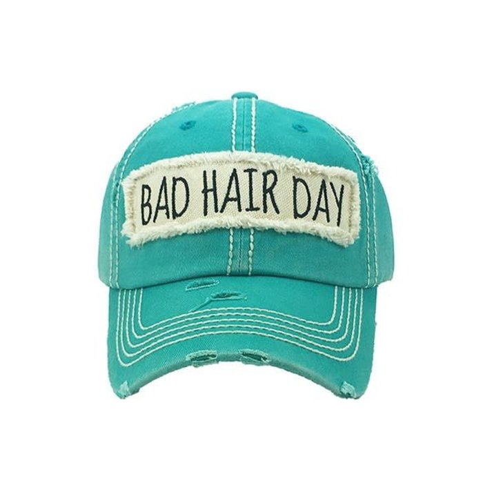 Bad Hair Day Turquoise Cap