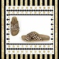 Leopard Cross Banded Sandals