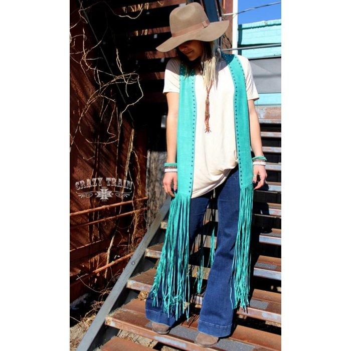 TexarkanaTurquoise Studded Duster - ONE SIZE